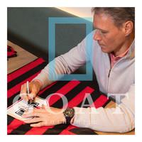 Marco van Basten maglia firmata Milan retrò