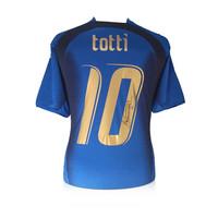 Francesco Totti signed Italy shirt 2006 World Cup