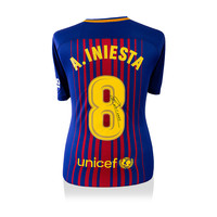 Andres Iniesta signed Barcelona shirt 2017-18