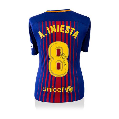 Andres Iniesta maglia firmata Barcellona 2017-18