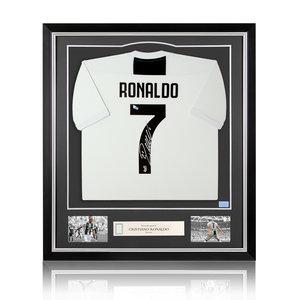 Cristiano Ronaldo signed Juventus shirt 2018-19 - framed