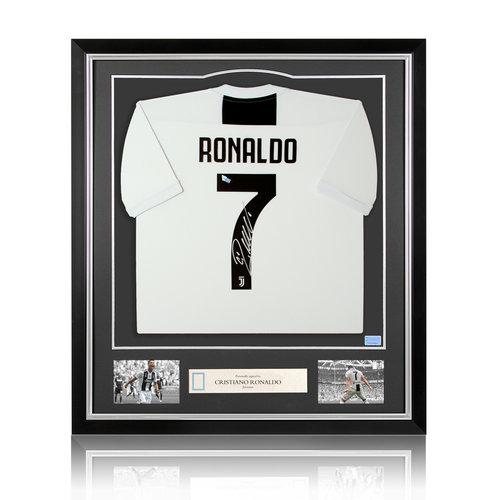 Cristiano Ronaldo maglia firmata Juventus 2018-19 - incorniciata