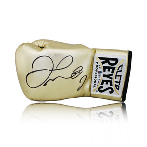 Floyd Mayweather signed boxing glove gold