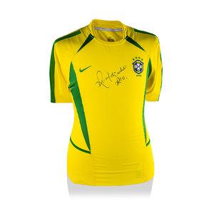 Ronaldinho maglia firmata Brasile 2002
