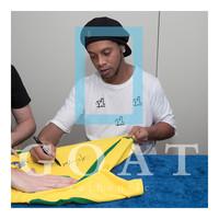 Ronaldinho signed Brazil 2002 shirt