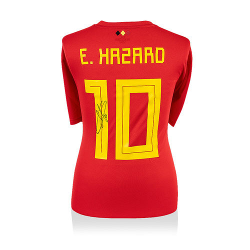 Eden Hazard signed Belgium shirt 2018 World Cup