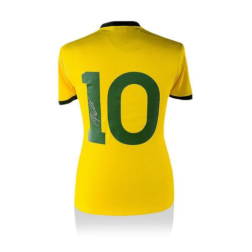 Pele signed Brazil 1970 World Cup shirt