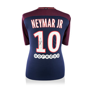 Neymar signed Paris Saint-Germain shirt 2017-18