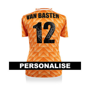 Marco van Basten signed and dedicated Netherlands 1988 shirt