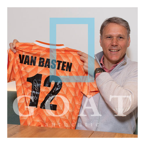 Marco van Basten signed and personally dedicated Netherlands 1988 shirt