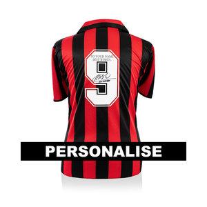 Marco van Basten signed and dedicated AC Milan shirt