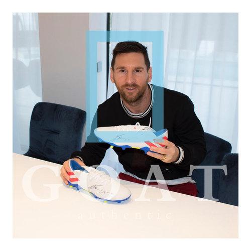 Lionel Messi scarpa da calcio firmata adidas Nemeziz 19.3