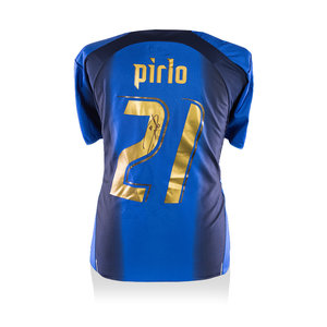 Andrea Pirlo signed Italy shirt 2006 World Cup