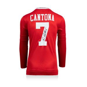Eric Cantona signed Manchester United retro shirt