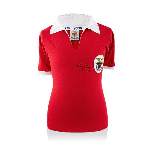 Eusebio signed Benfica retro shirt