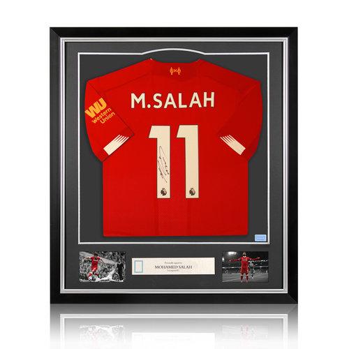Mohamed Salah signed Liverpool shirt 2019-20 - framed