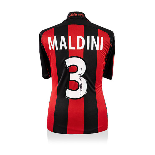 Paolo Maldini signed AC Milan shirt 2000-02