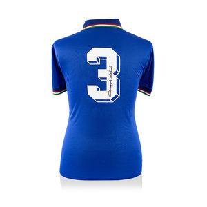 Paolo Maldini signed Italy shirt 1990