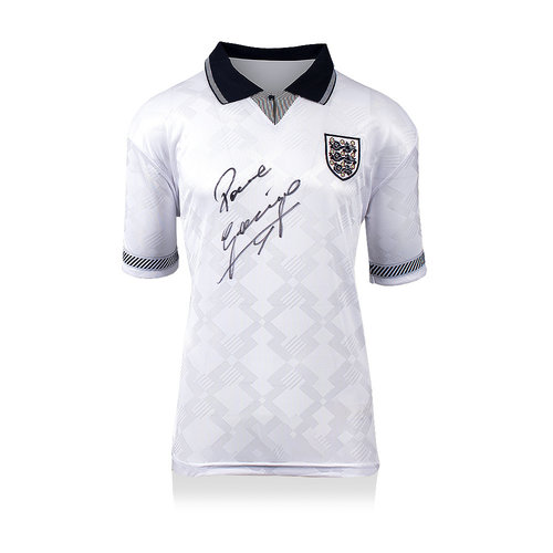 Paul Gascoigne signed England shirt 1990