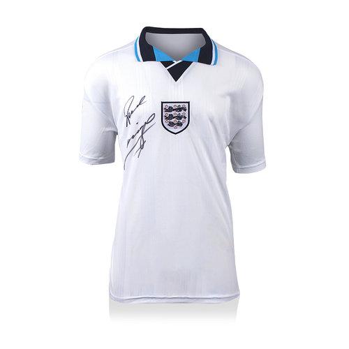Paul Gascoigne signed England shirt 1996