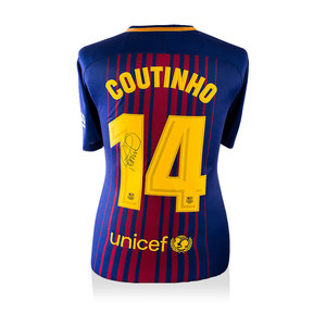 Philippe Coutinho signed Barcelona shirt 2017-18