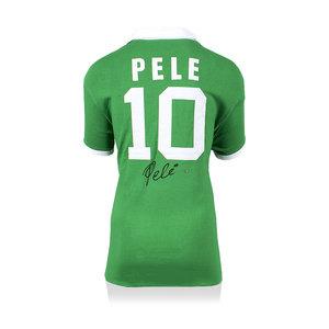 Pele signed New York Cosmos away shirt