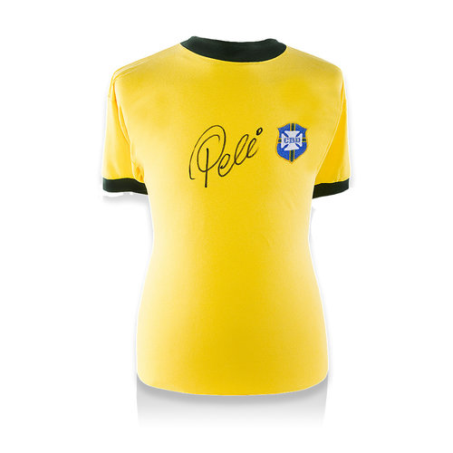 Pele signed Brazil shirt 1970