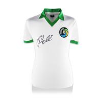 Pele signed New York Cosmos shirt retro