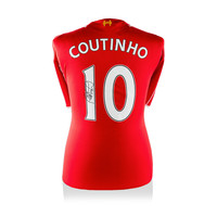 Philippe Coutinho signed Liverpool shirt 2014-15