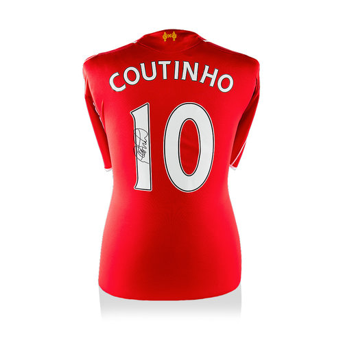 Philippe Coutinho maglia firmata Liverpool 2014-15