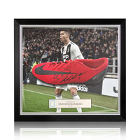 Cristiano Ronaldo signed boot Nike Mercurial CR7 - framed