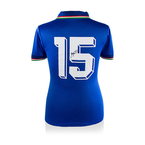 Roberto Baggio signed Italy shirt 1990