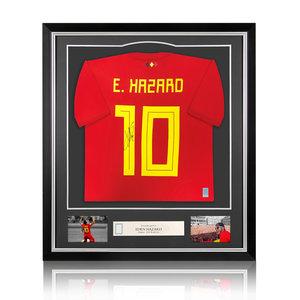 Eden Hazard signed Belgium shirt 2018 World Cup - framed