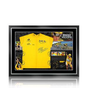 Bradley Wiggins signed yellow jersey Tour de France - framed