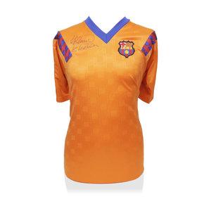 Ronald Koeman signed Barcelona shirt retro