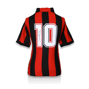 Ruud Gullit signed retro AC Milan shirt
