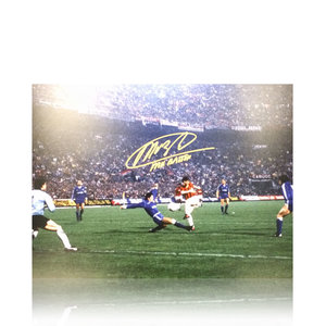 Marco van Basten signed Milan photo
