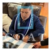 Diego Maradona signed Argentina shirt 1986 - framed