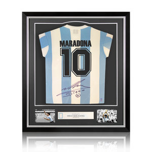 Diego Maradona maglia firmata Argentina 1986 - incorniciata