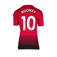 Wayne Rooney signed Manchester United shirt 2018-19