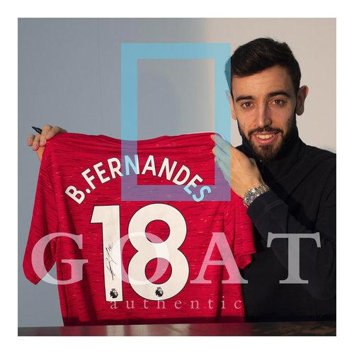 Bruno Fernandes maglia firmata Manchester United 2020-21 - incorniciata