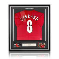 Steven Gerrard signed Liverpool shirt 2005 - framed