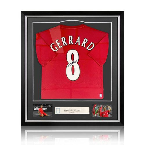 Steven Gerrard maglia firmata Liverpool 2005 - incorniciata