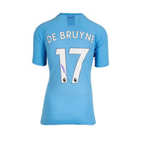 Kevin de Bruyne signed Manchester City  shirt 2019-20