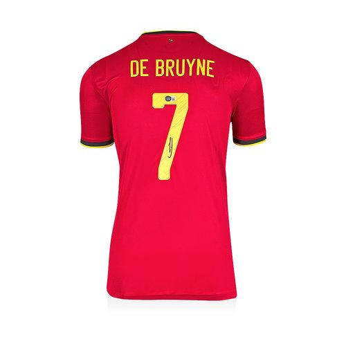 Kevin de Bruyne maglia firmata Belgio 2020-21