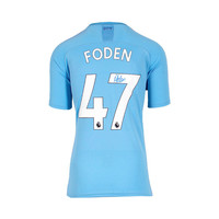 Phil Foden signed Manchester City shirt 2019-20