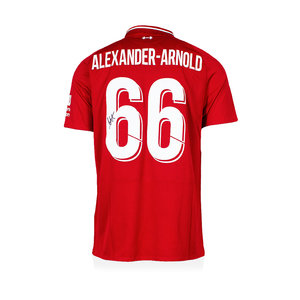 Trent Alexander-Arnold signed Liverpool shirt 2018-19