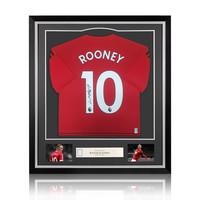 Wayne Rooney signed Manchester United shirt 2018-19 - framed