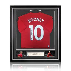 Wayne Rooney maglia firmata Manchester United 2018-19 - incorniciata