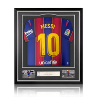 Lionel Messi signed FC Barcelona shirt 2020-21 - framed